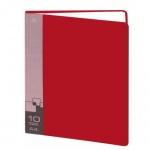 Папка файловая Бюрократ, на 10 файлов, красная