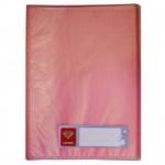 Папка файловая Бюрократ Crystal, А4, на 80 файлов, красная
