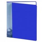 Папка файловая Бюрократ, А4, на 80 файлов, синяя
