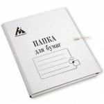 Картонная папка на завязках Бюрократ белая, А4, до 100 листов