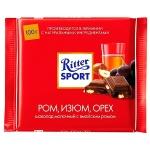 Шоколад Ritter Sport 100г ром орехи изюм, молочный