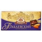 Шоколад Бабаевский темный с миндалем, 100г