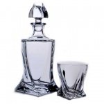 Набор для виски Bohemia Квадро графин 0.85л + 2 стакана 340мл