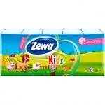 Носовые платки Zewa Детские 10уп х 10шт, 3 слоя