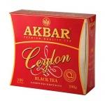 Чай Akbar, черный, 100 пакетиков, Ceylon, 100 пакетиков