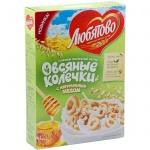 Готовый завтрак Любятово колечки с медом, 200г