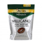 Кофе растворимый Jacobs Monarch Millicano 150г, пакет