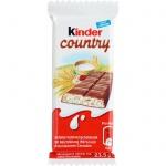 Шоколад Kinder Сountry со злаками, 23.5г