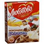 Готовый завтрак Любятово подушечки с шоколадной начинкой, 250г