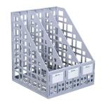 Накопитель вертикальный для бумаг Стамм А4, 3 секции, 240мм, серый, ЛТ80