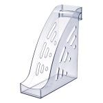 Накопитель вертикальный для бумаг Стамм Торнадо А4, 95мм, прозрачный, ЛТ402