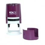 Оснастка для круглой печати Colop Printer d=40мм, фиолетовая, с крышкой