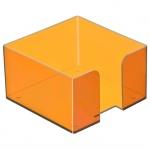 Подставка для бумажного блока Стамм манго, 9.5х9.5х5.2см, пластик, тонированная