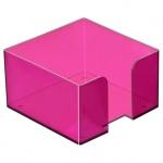 Подставка для бумажного блока Стамм ПЛ52, 9.5х9.5х5.2см, пластик, тонированная, слива