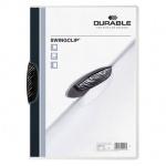 Пластиковая папка с клипом Durable Swingclip Color, А4, до 30 листов, черная