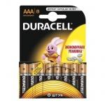 Батарейка Duracell Basic AAA/LR03, 1.5В, алкалиновая, 8шт/уп, 2400-AAA-K8