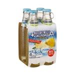 Вода питьевая Сенежская С кислородом без газа, лимон, 0.18л х 4шт, стекло
