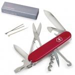 Нож солдатский 91мм Victorinox Climber 1.3703, 14 функций, красный, с фиксатором