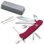 Нож солдатский 111мм Victorinox Outrider 0.9023, 14 функций, красный, с фиксатором