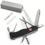 Нож солдатский 111мм Victorinox Outrider 0.9023.3, 14 функций, черный, с фиксатором