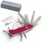 Нож солдатский 111мм Victorinox Work champ 0.9064, 21 функция, красный, с фиксатором