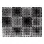 Коврик придверный Vortex Травка, 56х42см, черно-серый