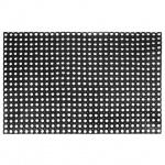 Коврик придверный резиновый, 80х120см, 16мм, черный