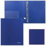 Папка на 4-х кольцах А4 Brauberg темно-синяя, 40 мм