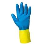 Перчатки защитные Kimberly-Clark Jackson Safety G80, защита от химикатов, желт/син, р. S