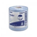 Протирочные салфетки Kimberly-Clark WypAll L10, в рулоне с центральной вытяжкой, 525шт, 1 слой, синий