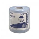 Протирочные салфетки Kimberly-Clark WypAll L20, в рулоне с центральной вытяжкой, 400шт, 1 слой, синий