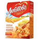 Хлопья Любятово медовые, 250г