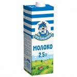 Молоко Простоквашино 2.5%, 950г, ультрапастеризованное