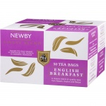 Чай Newby English Breakfast (Инглиш брекфаст), черный, 50 пакетиков