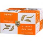 Чай Newby Ceylon (Цейлон), черный, 50 пакетиков