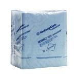 Протирочные салфетки Kimberly-Clark WypAll Х60 8372, листовые, 76шт, 1 слой, синие