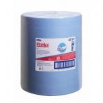 Протирочный материал Kimberly-Clark WypAll Х60, 8371, высокая впитываемость, в рулоне, 190м, 1 слой, синий