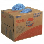 Протирочные салфетки Kimberly-Clark WypAll X80 8373, листовые, 160шт, 1 слой, синие