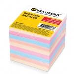 Блок для записей Brauberg цветной, 9x9x9см, непроклеенный