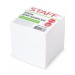 Блок для записей Staff белый, 9х9х9см, непроклеенный