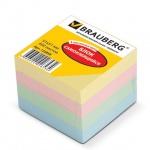 Блок для записей с клейким краем Brauberg 4 цвета, пастельный, 51x51мм, 400 листов