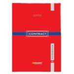 Блокнот Brauberg Contract, А5, 96 листов, в клетку, на сшивке, ламинированный картон