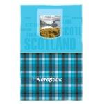 Блокнот Brauberg Шотландка, А5, 96 листов, в клетку, на сшивке, ламинированный картон