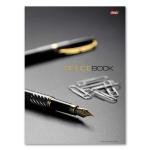 Блокнот Hatber Office Book, А4, 120 листов, в клетку, на сшивке, ламинированный картон, твердый переплет, 5-цветный блок
