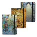 Блокнот Brauberg Art, А7+, 80 листов, в клетку, на сшивке, ламинированный картон, на резинке