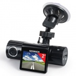 Видеорегистратор автомобильный Sonnen DVR-330 HD 120°, microSD, экран 2''