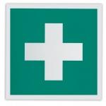 Знак Аптечка первой помощи Фолиант 200х200мм, фотолюминесцентный, самоклеящаяся пленка, ЕС01