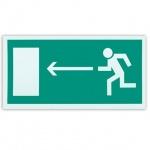 Знак Направление к эвакуационному выходу налево Фолиант 300х150мм, фотолюминесцентный, самоклеящаяся пленка, Е04