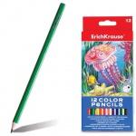 Набор цветных карандашей Erich Krause 12 цветов, 32878