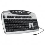 Клавиатура проводная USB Sonnen KB-M540, серебристая